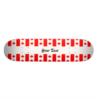 Canadian flag pattern skateboard decks