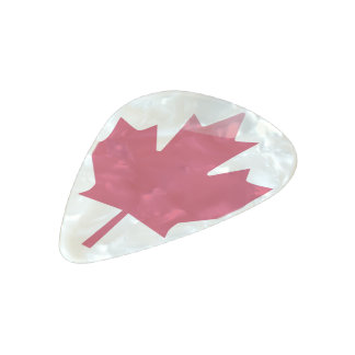 Canadian flag pearl celluloid guitar pick