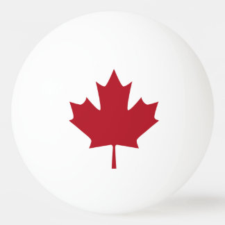 Canadian Flag Ping Pong Ball