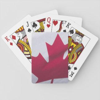 Canadian Flag. Poker Deck
