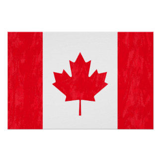 CANADIAN FLAG Poster
