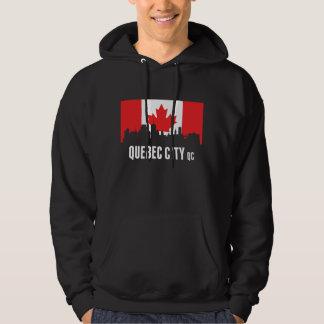 Canadian Flag Quebec Skyline Hoodie