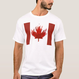 canadian flag  representing our hearts excitement T-Shirt
