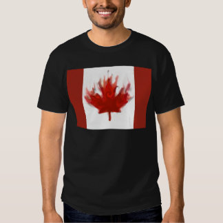 canadian flag  representing our hearts excitement t-shirts