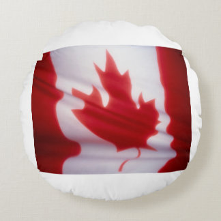 CANADIAN FLAG ROUND PILLOW