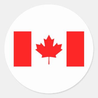 Canadian Flag Round Sticker