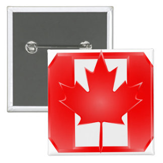 Canadian Flag Shield, Canada Day button