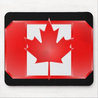 Canadian Flag Shield mousepad