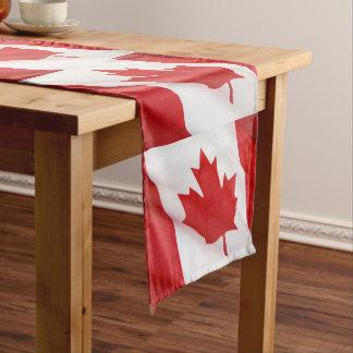 Canadian flag short table runner