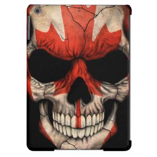 Canadian Flag Skull iPad Air Covers
