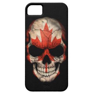 Canadian Flag Skull on Black iPhone 5 Case