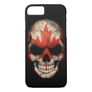Canadian Flag Skull on Black iPhone 7 Case