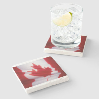 CANADIAN FLAG STONE COASTER