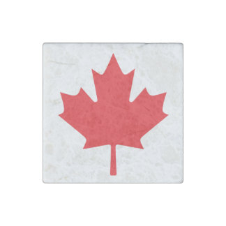 Canadian Flag Stone Magnets