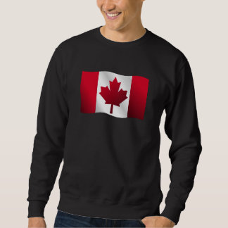 Canadian Flag Symbol Waving World Flag Sweatshirt
