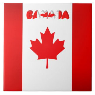 Canadian flag tile
