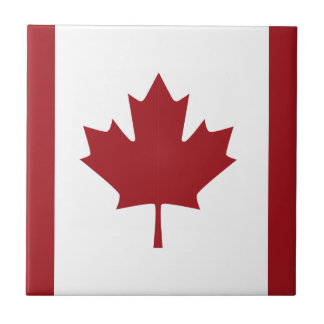 Canadian flag tile