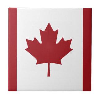 Canadian flag tiles