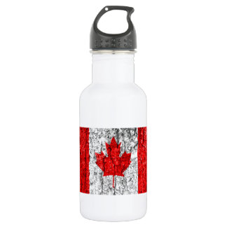 Canadian Flag Tree Bark 532 Ml Water Bottle
