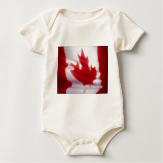Canadian Flag Baby Bodysuits