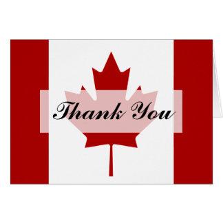 Canadian Flag Wedding Thank You Card