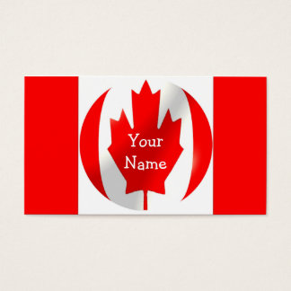 Canadian Flag With Bubble Business Card