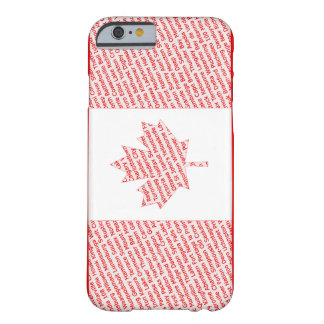 Canadian flag with city and town names phone case barely there iPhone 6 case