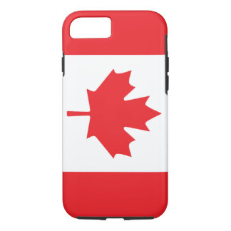 Canadian Flag With Red Maple Leaf iPhone 8/7 Case