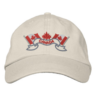 Canadian Flags Hat Embroidered Hat