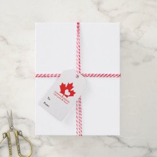 Canadian Foodie Pack Of Gift Tags