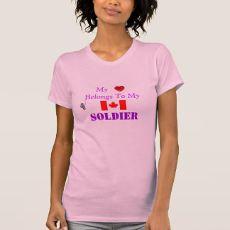Canadian Forces Wife Or Girlfriend T Shirt