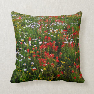 Canadian game flowers throw pillow