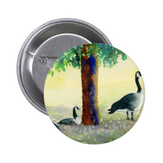 Canadian Geese 2 Inch Round Button