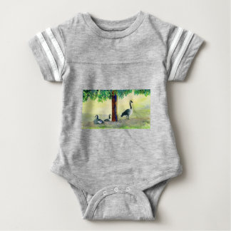 Canadian Geese Baby Bodysuit