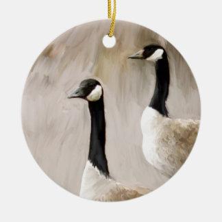 Canadian Geese Ceramic Ornament