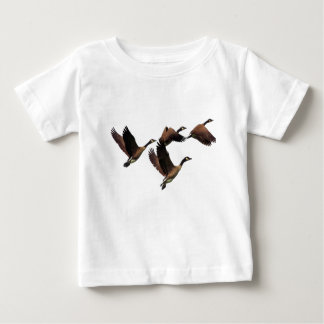 Canadian geese flying in a flock kids design baby T-Shirt