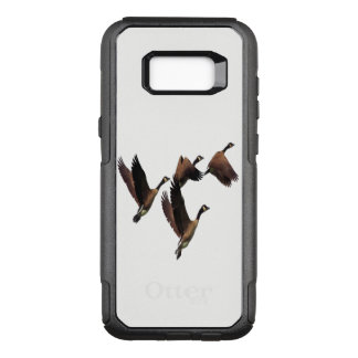 Canadian geese flying in a flock kids design OtterBox commuter samsung galaxy s8+ case