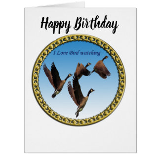 Canadian geese flying together kids design card