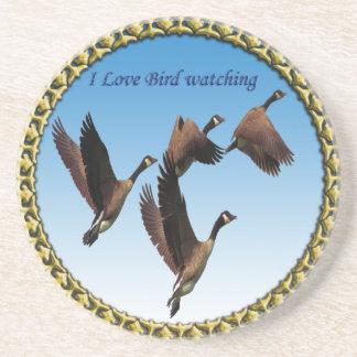 Canadian geese flying together kids design coaster