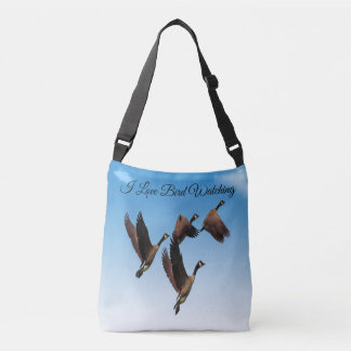 Canadian geese flying together kids design crossbody bag