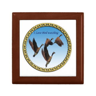 Canadian geese flying together kids design gift box