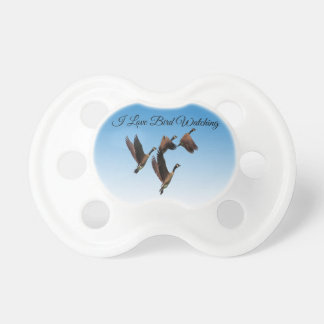 Canadian geese flying together kids design pacifier