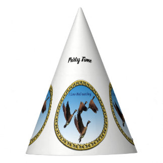 Canadian geese flying together kids design party hat