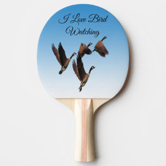 Canadian geese flying together kids design ping pong paddle