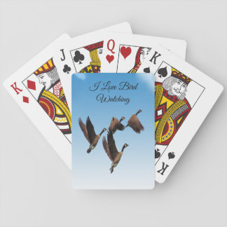 Canadian geese flying together kids design playing cards