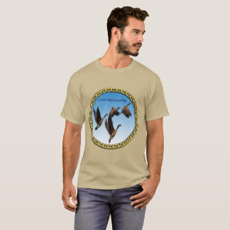 Canadian geese flying together kids design T-Shirt