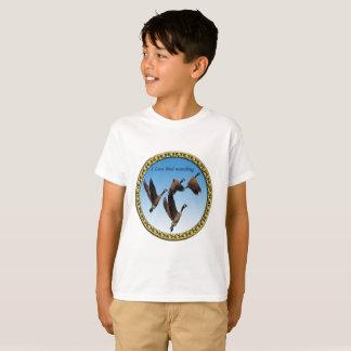Canadian geese flying together kids design T-Shirt