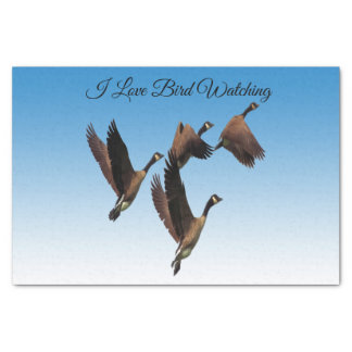 Canadian geese flying together kids design tissue paper