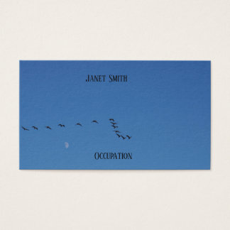 Canadian geese in flight business card