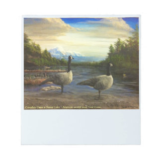 Canadian Geese notepad by famed artist Neal Cronic